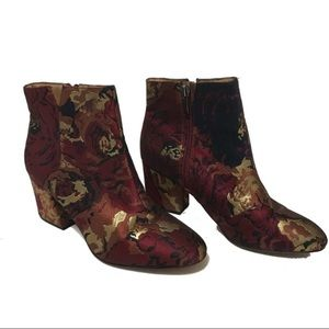 Franco Sarto Olympia Embroidered Ankle Booties